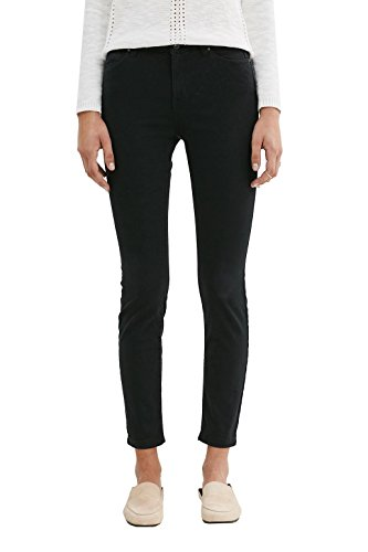 edc by ESPRIT Damen Hose Schwarz (Black 001)
