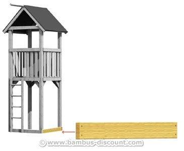 Systembalken für Basis Spielturm, kurz 98cm - Kinderspielgeräte für Garten, Spielgeräte für Kinder, Spielturm, Spieltürme (Kurze Basis)