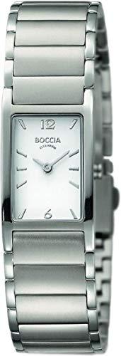 Boccia Damen Analog Quarz Uhr mit Titan Armband 3284-01