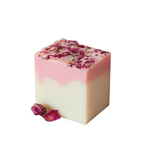 Savon fait main Cl Pores de nettoyant pour le visage au lait de chèvre Rose naturel