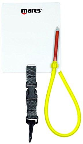 Mares Erwachsene Unterwasserschreibtafel Wrinting Slate Schreibtafel, Multicolour, 12 x 15 cm