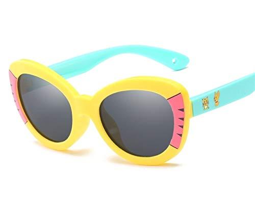 Kinder Sonnenbrillen Cartoon Dekoration Outdoor Seaside Sonnencreme UV400 Silikon Brille Polarisierte Sonnenbrillen Neue Mode Trendy Polarisierte Sonnenbrillen Blenden Farbe Verhindert UV-Strahlen Son