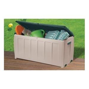 Chalet et Jardin 12COFFREMIDI340L Coffre de Rangement pour le Jardin Beige/Vert 340 L
