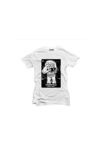 magic hand - Tshirt femme karl lagerfeld Blanc