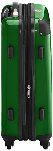 HAUPTSTADTKOFFER - Alex - 2 x Handgepäck Hartschale glänzend, TSA, 55 cm, 42 Liter, Graphit-Apfelgrün Grün-Champagne