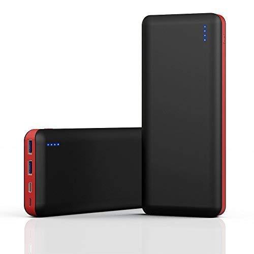 GRDE Powerbank 25800 mAh Externe Akku Hohe Kapazitat Schnellladung 3.0 mit 3 Ausgängen (2 USB & Type C) Tragbare Power Bank, Akkupack Ladegerät für Alle USB-Anschlüsse Mobil