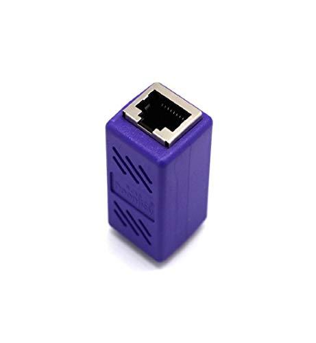 DEESEE(TM) RJ45 Buchse auf Buchse Netzwerk Ethernet LAN-Adapter Adapter Kupplung Extender, Light, violett, For iPhone XS Max - Cell Extender