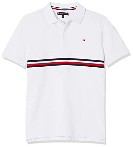 b398d325a Tommy Hilfiger Flag Insert Polo S/s, Blanco (Bright White 123) 164
