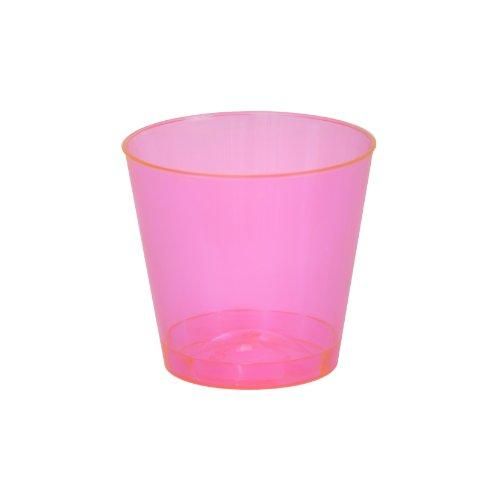 Fineline Settings Savvi Serve Neon-Schnapsgläser, 57 ml, Rot, 50 Stück