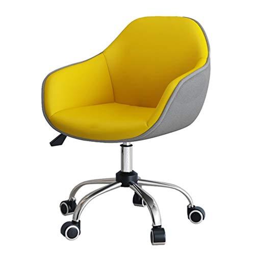 PU-Leder-Computer-Stuhl, Akzent-Anker-Spiel-Klappstuhl, Hauptstuhl-Drehaufgaben-Stühle, Ergonomische Büro-Schreibtisch-Stühle, E-Sport-Stuhl-gelber Anhebbarer Drehender Justierender Restaurant-Stuhl -
