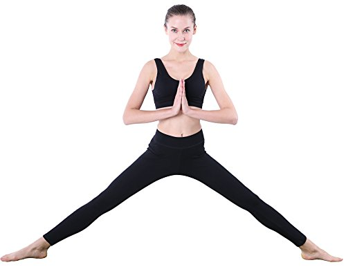 Leggings Damen Schwarz Winter Baumwoll Yoga-Hose 44 46 108 112 L XL