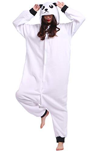 Jumpsuit Onesie Tier Karton Fasching Halloween Kostüm Sleepsuit Cosplay Overall Pyjama Schlafanzug Erwachsene Unisex Lounge Kigurumi Weiß Bär for Höhe (Adult Polar Bear Kostüm)