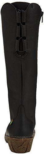 El Naturalista Yggdrasil Ne20, Bottes montantes mi-mollet à doublure chaude femme Noir (BLACK N01)