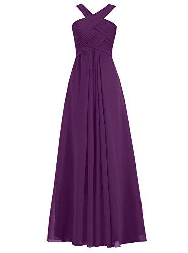 Dresstells Damen Bodenlang Cocktail-Kleider Abendkleider Mit Reißverschluß Party Kleider Weiß