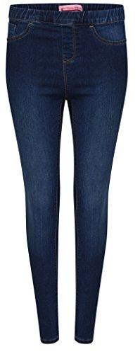 Mesdames Denim Women Stretchy Skinny Jeans Jegging avec poches PLUS Tailles 36-56 Bleu Foncé