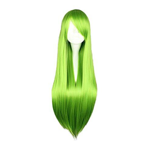 """Luckhome Perücke Frauen Damen Haar Lang Wig Für Karneval Fasching Cosplay Party Kostüm Weiblich 80cm / """"Charming Lange Gerade Hitzebeständig Farben ()"""