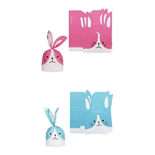 Fenteer 100pcs Kunststoff Kaninchen Tasche Beutel Tüten Säckchen für Geschenk Süßigkeiten Snacks und Kekse
