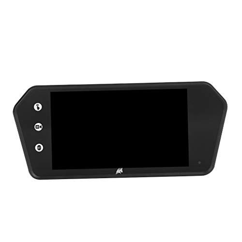 KESOTO 7''-Farb-TFT-Digital-LCD-Monitor, Hochauflösender Rückfahrmonitor 16: 9, Unterstützt DVD/VCR, 12-24V Digital Lcd Vcr