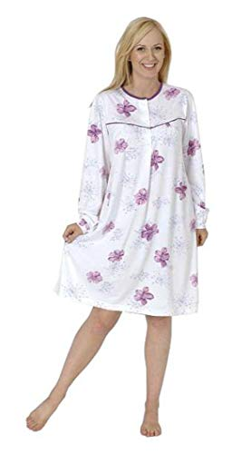 Normann Care Damen Pflegenachthemd Langarm, Rückenteil offen 999 270 90 001, Farbe:Mix, Größe2:48/50 (Pflege-langarm-nachthemd)