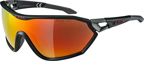 Alpina Unisex- Erwachsene S-Way L cm+ Sportbrille, grün, One Size