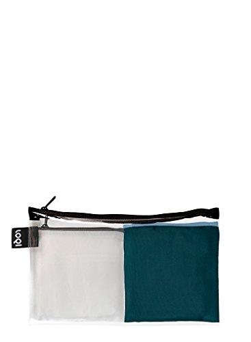 LOQI PURO Pocket – Einkaufstaschen Set, Reise-Henkeltaschen, Chalk und Pine (Pocket Tote Zip)
