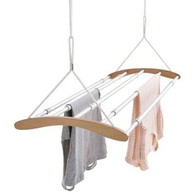 Moderner ausziehbarer Wäschehänger, höhenverstellbar, 6,7 m Trockenlänge