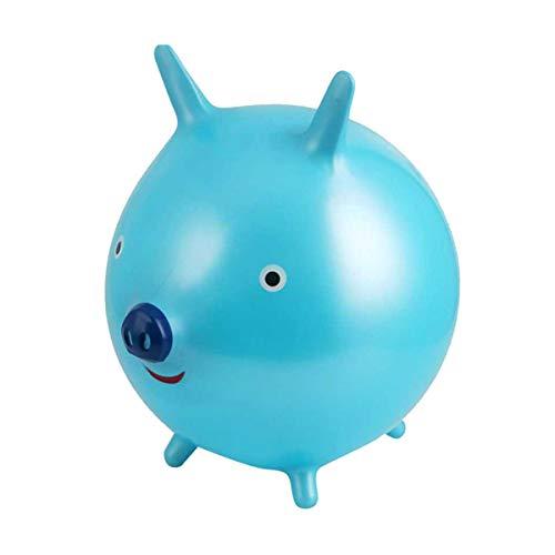 Toyvian Aufblasbares Sprungschwein im Freien Fahren auf springendem Tier springendes Schwein für Kinder Kinder Kleinkinder (hellblau) -