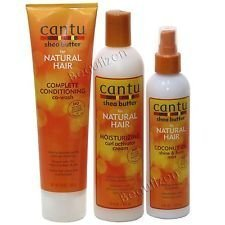 Cantu Shea Butter For Natural Hair 3 PCS Set (Conditioning Co-Wash, Curl Activator Cream, and Coconut Shine Mist) Plus 1 Free pencil by N/A