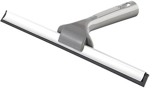 PEARL Duschabzieher: Fensterabzieher und Duschkabinenreiniger mit Gummilippe, 30 cm (Scheibenabzieher)