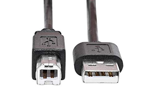 KnnX 28092 - USB 2.0-Kabel 2 m - Typ A-Stecker an B-Stecker - Drucker, Flachbettscanner, externes Festplattenlaufwerk, USV-Gerätekabel