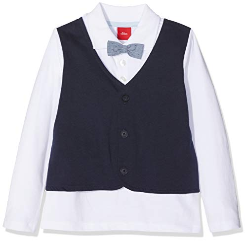 s.Oliver Baby-Jungen Poloshirt 59.811.35.5927, Weiß (White 0100), 92