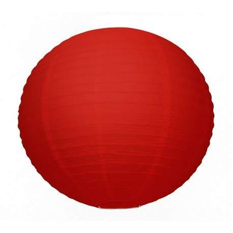 Große japanische Steinlaterne rot, Lampion aus Papier, Kugel, 50cm, zum Aufhängen