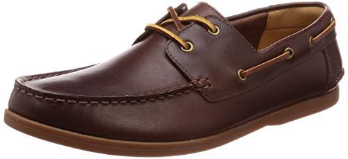 Clarks Morven Sail Mens Boat Shoes 8 UK/42 EU Britisch Bräunen - Britischen Tan Leder