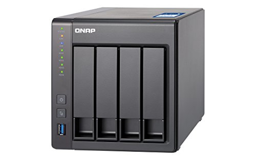 QNAP TS-431X-2G Desktop NAS Gehäuse mit 2 GB DDR3 RAM, Powerful 4-Bay Storage Server