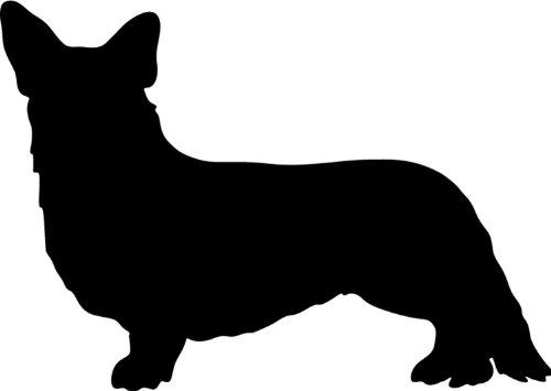 Cardigan Welsh Corgi - Hundeaufkleber - Farbe und Umrandung oder Text wählbar - Dog Sticker