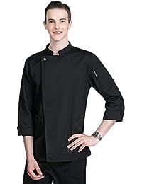 Freahap Chaqueta Chef Camisa de Cocinero Manga Larga de Verano