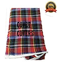 Covet Covers Check Cotton Mattress Cover for Single Bed with Zip(72x36x4-inch, Multicolour) (72x36x4)