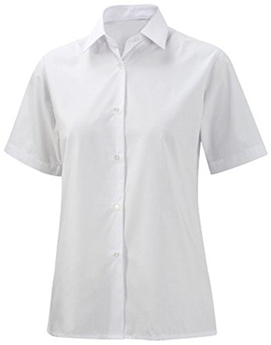 Ragazza/donna Uniform Business School Formal Wear-Camicia a maniche corte, colletto