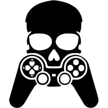 ELTON Skull Gamer Decal Sticker Wall Vinyl Art Design Gamer Cool Funny Game Room