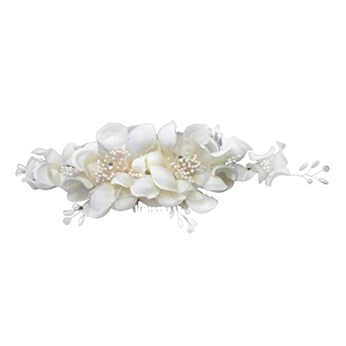 Haarclip - TOOGOO(R) Blumen Perlen Hochzeit Braut Haarklammer Brautschmuck Braut Haarschmuck Haarclip
