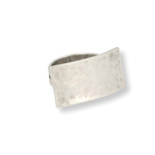 Ring ELLA - zeitloses Design mit Echtsilber-Plattierung in Altsilber-Optik von Roberto Leonardi