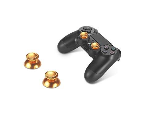 Supremery Playstation 4 DualShock 4 tasti in alluminio tappi levette analogiche Thumbsticks ricambio Accessori per PS4 (proiettile d'oro)