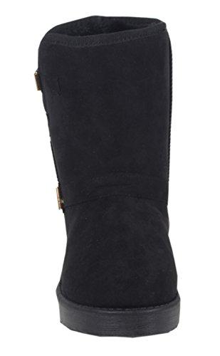 Lenvik femme schlupfstiefel neige décoratif rembourré avec boucle bottes d'hiver classic bottes fourrées 36, 37, 38, 39, 40, 41 Noir - Noir