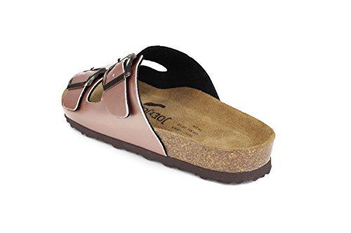 JOE N JOYCE London Synsoft semelle souple Sandals Metallic Étroit Nude