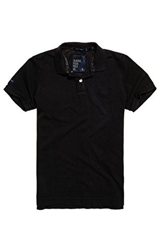 Superdry Herren Poloshirt Vintage Destroy S/S, Schwarz (Vintage Black 06A), XL (Kurzarm Poloshirt Vintage)