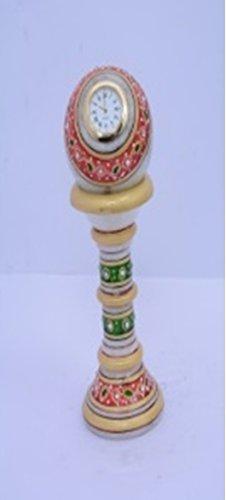 Paper Weight Marble Pillar Clock