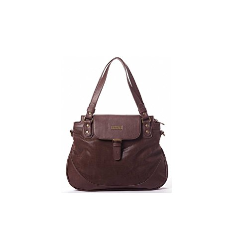 Sac Shopping Smash Marron AMANDA Simili Cuir AMANDA MARRON