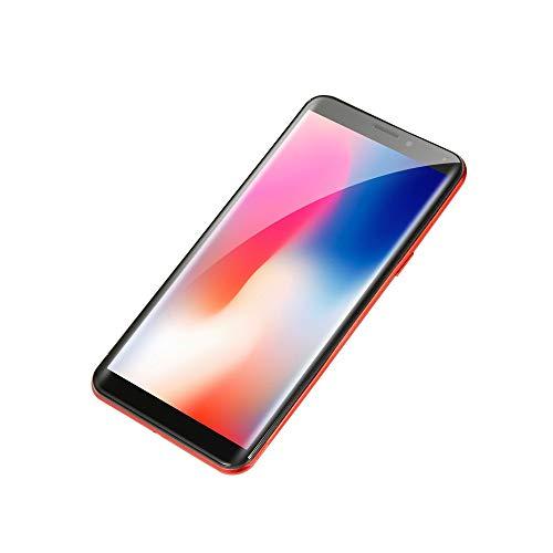 Oasics Smartphone, Neue Art und Weise 5,72 Zoll Viererkabel-Kern-Doppel-HD Kamera Smartphone Androides IPS-GESAMTER Schirm G/M WCDMA 4GB WiFi BT GPS 3G Anruf-Handy (rot)