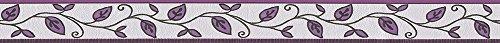 A.S. Création selbstklebende Bordüre Only Borders Borte 5,00 m x 0,05 m creme schwarz lila Made in Germany 262226 2622-26 (Und Tapete Schwarz Creme)
