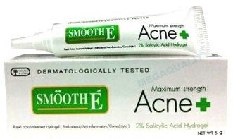 Glatte E Maximale Stärke Akne Behandlung 2% Salicylsäure Hydrogel 5g, Thailand